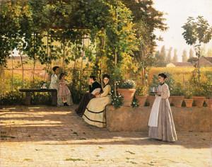 Silvestro Lega, La pergola, 1868