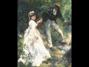 Renoir La promenade 1870