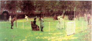 Sir John Lavery The tennis party1885