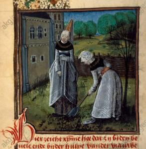 Christine de Pisan travaillant au jardin