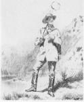 Manceau immortalisé sur les rives de la Creuse à Gargilesse en 1858.