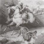 L'un des tableaux d'Horace Vernet, peintre célèbre de l'époque, gravés par Alexandre Manceau.