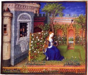 Barthelemy d'Eyck Emilie dans son jardin V.1465
