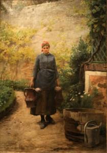 Emile Adan, La jardiniere, 1890