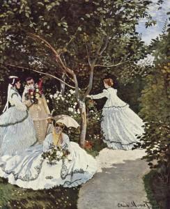 Monet, Femmes au jardin,