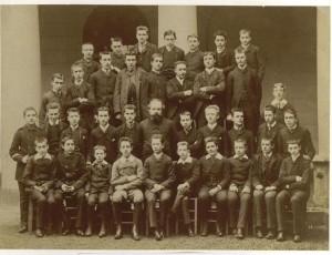 Lycée Condorcet, 1886-87, classe de seconde. Marcel Proust est au 1er rang à gauche.