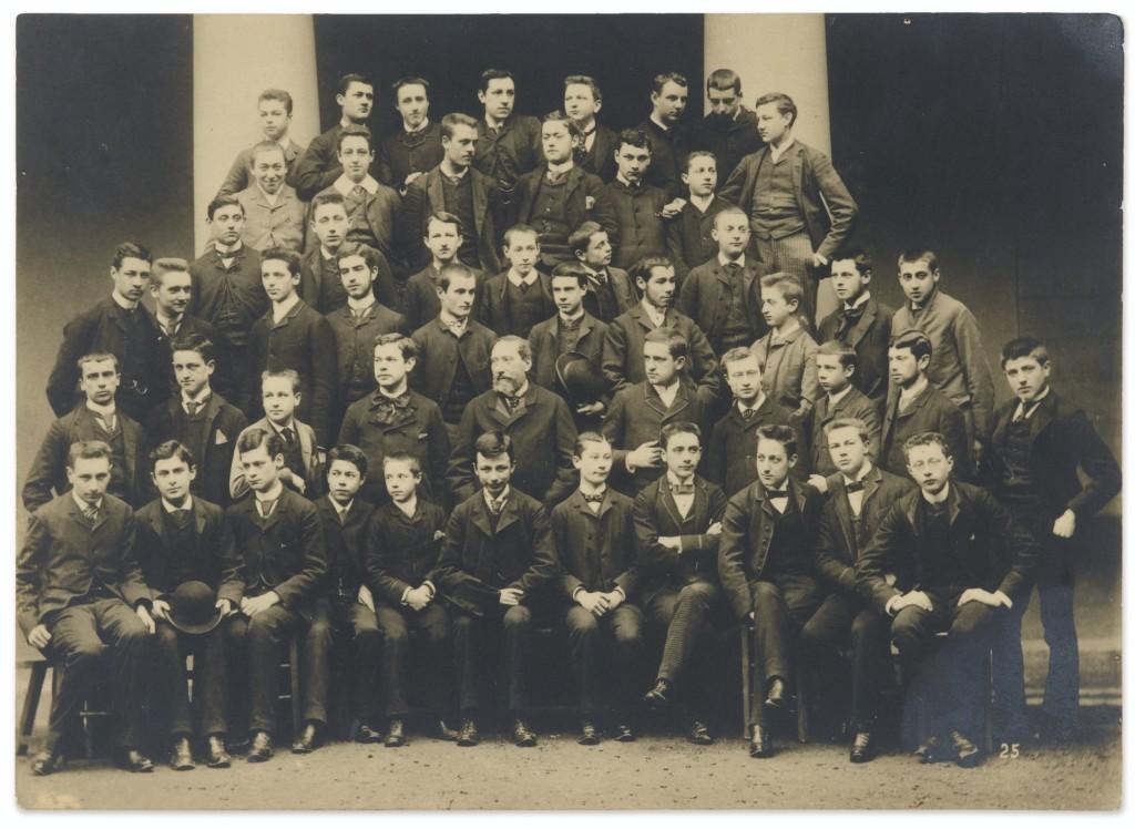 Lycée Condorcet ,1887-88, classe de rhétorique. Marcel Proust est au 3e rang à droite.