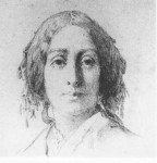 """Cette gravure de Manceau d'après Thomas Couture, exposée au Salon de décembre 1850, est le portrait """"le plus ressemblant qu'on ait fait d'elle"""" d'après Delacroix. (Le dernier amour de George Sand, p.92)"""